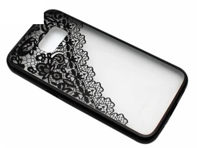 Силиконов Гръб - Samsung Galaxy S7 G930 - Дантела - Черна