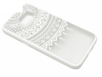 Силиконов Гръб - Samsung Galaxy S7 G930 - Дантела - Бяла