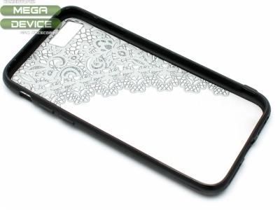 Силиконов Гръб - Iphone 7 / 8 Модел 2 Дантела - Черна