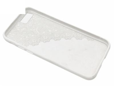 Силиконов Гръб - Iphone 7 / 8 Модел 2  Дантела - Бяла