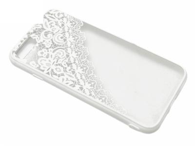Силиконов Гръб - Iphone 7 4.7  Модел 2  Дантела - Бяла