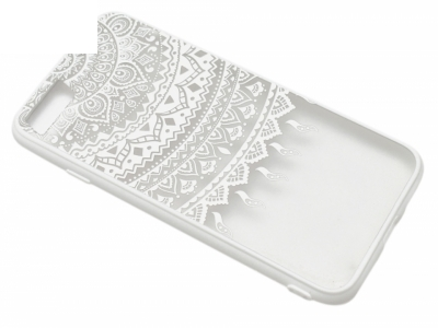 Силиконов Гръб - Iphone 7 4.7 Модел 1 Дантела - Бяла