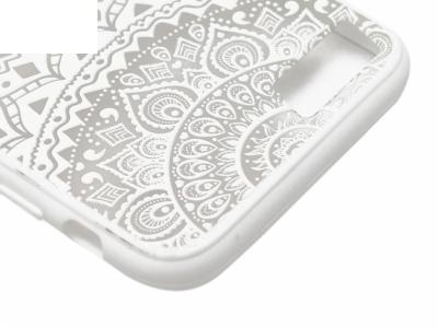 Силиконов Гръб - Iphone 7 / 8 Модел 1 Дантела - Бяла