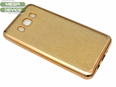 Силиконов Гръб с Брокат Samsung Galaxy J5 J510 (2016) - Elektro Gold