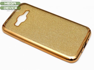 Силиконов Гръб с Брокат Samsung Galaxy J3 J320 (2016) - Elektro Gold