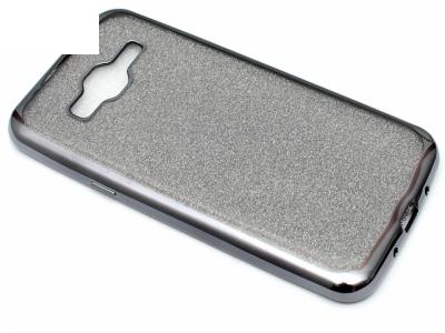 Силиконов Гръб с Брокат Samsung Galaxy J3 J320 (2016) - Elektro Grey