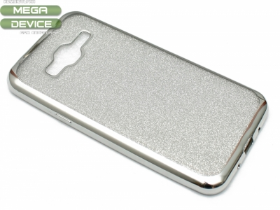 Силиконов Гръб с Брокат Samsung Galaxy J3 J320 (2016) - Elektro Silver