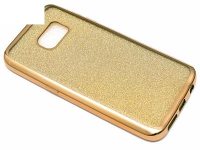 Силиконов Гръб с Брокат Samsung Galaxy S7 2016 G930 , Златист