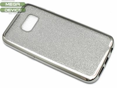 Силиконов Гръб с Брокат Samsung Galaxy S7 2016 G930 , Сребрист