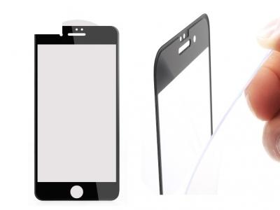 Стъклен 3D протектор 0.3mm AMORUS Curved за iPhone 7 / 8 , Черен