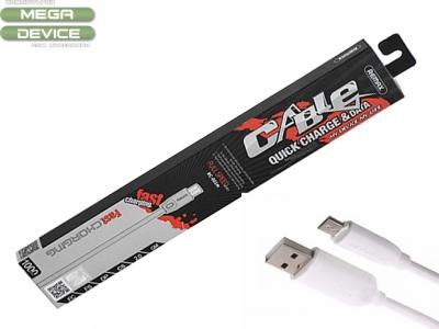 Кабел Remax 2.4A RC-001 Micro USB - White