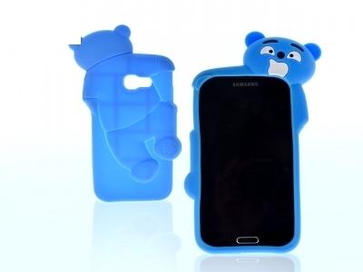 3D Мече Силиконов Калъф за  Samsung Galaxy A5 2017 Син