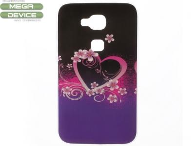 Силиконов протектор Huawei G8 - Flower and Heart