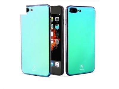 Твърд гръб PC със огледално виждане - Iphone 7 Plus / 8 Plus - Violet-blue