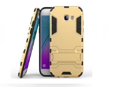 Хибриден гръб със СТОЙКА за Samsung Galaxy A5 2017 - Gold