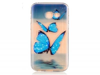 Силиконов гръб за  Samsung Galaxy A3 2017 - пеперуди