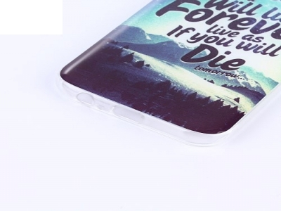 Силиконов гръб за  Samsung Galaxy A3 (2017) - планински пейзаж и цитат