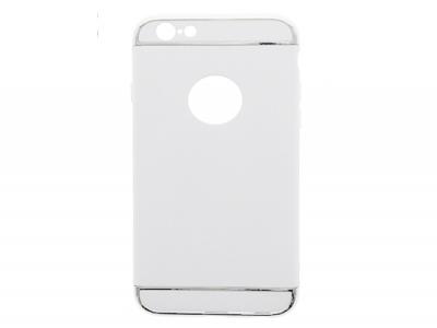 Твърд гръб  PVC 3 in1  за  iPhone 6 / 6S - бял