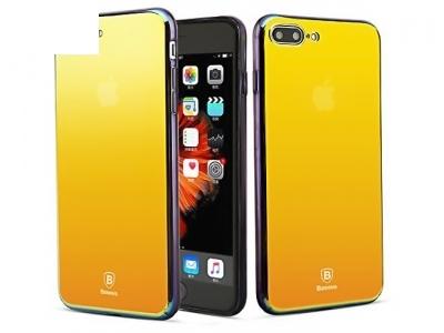 Твърд гръб PC със огледално виждане - стъкло за iPhone 7 Plus / 8 Plus  Stream Gold