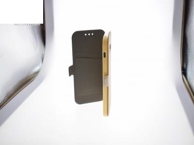 Тефтер странично отваряне - BOOK POCKET Samsung Galaxy A3 (2017) A320 - Gold