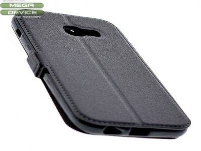 Тефтер странично отваряне - BOOK POCKET Samsung Galaxy A3 (2017) A320 - Black