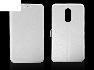 Тефтер странично отваряне за  Lenovo K6 Note (K53A48) Бял