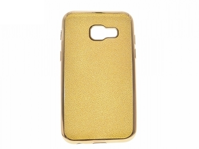 Силиконов Гръб с Брокат Samsung Galaxy A3 A320 (2017) - Elektro Gold