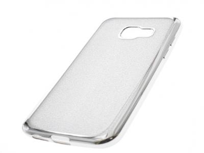 Силиконов Гръб с Брокат Samsung Galaxy A3 A320 (2017) - Elektro Silver