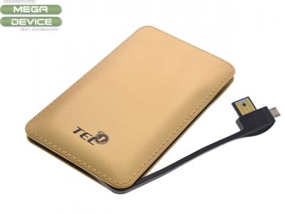 Power Bank Slim Tel1 8000mAh Gold