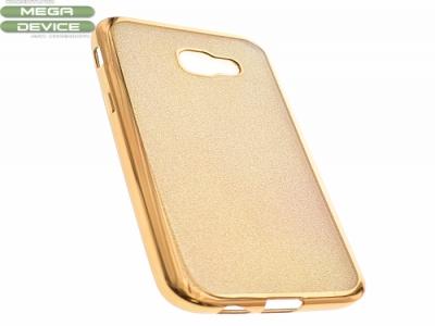 Силиконов Гръб с Брокат Samsung Galaxy A5 A520 2017 - Elektro Gold