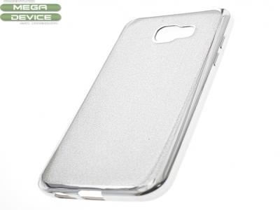 Силиконов Гръб с Брокат Samsung Galaxy A5 A520 2017 - Elektro Silver