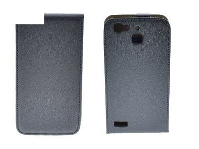 Калъф тефтер Slim Flexy за Huawei P8 Lite Smart , Тъмно сив