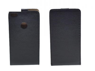 Калъф тефтер Slim Flexy за Huawei P8 Lite 2017, Черен