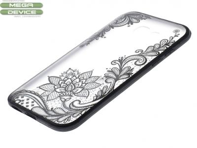 Силиконов Гръб - Samsung Galaxy A5 (2017) A520 - Модел 4 (Lace Flower ) Black