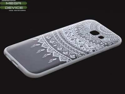 Пластмасов гръб със силиконова лайсна за  Samsung Galaxy A5 2017 A520 Бял