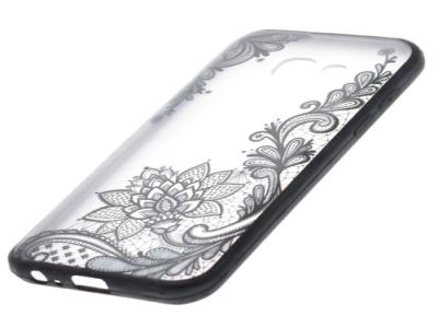 Силиконов Гръб - Samsung Galaxy A3 2017 A320 - Модел 4 (Lace Flower ) Black