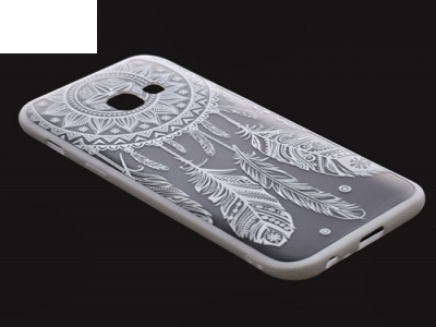 Пластмасов гръб със силиконова лайсна за Samsung Galaxy А3 (2017) А320 Бял
