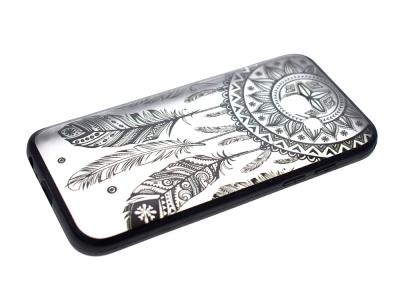 Пластмасов гръб с силиконова лайсна за Samsung Galaxy А3 2017 А320  Черен