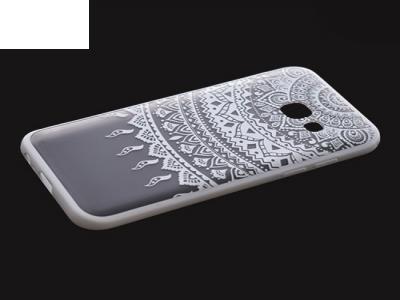 Пластмасов гръб със силиконова лайсна за Samsung Galaxy A3 2017 A320 Бял