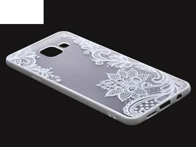 Пластмасов гръб със силиконова лайсна за Samsung Galaxy A3 (2016) A310 Бял