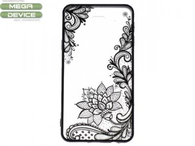Силиконов Гръб - Samsung Galaxy A3 (2016) A310 - Модел 4 (Lace Flower ) Black