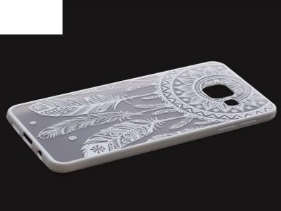 Пластмасов гръб със силиконова лайсна за  Samsung Galaxy А3 (2016) А310 Бял