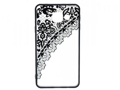 Силиконов Гръб - Samsung Galaxy A3 A310 (2016) - Модел 2 (Lace) Black