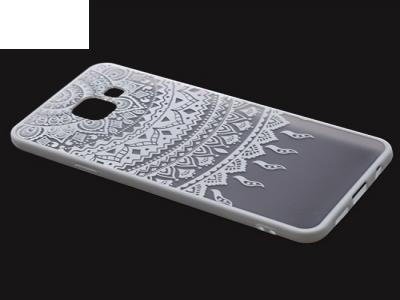 Пластмасов гръб със силиконова лайсна за Samsung Galaxy A3 (2016) A310  - Бял