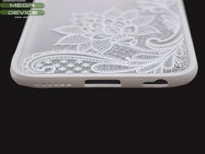 Пластмасов гръб със силиконова лайсна за IPhone 6 (4.7) Бял