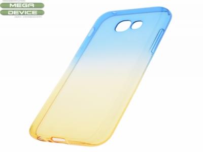 Силиконов гръб OMBRE - Samsung Galaxy A5 2017  - Blue / Gold