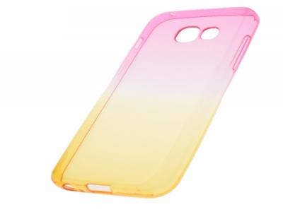 Силиконов гръб OMBRE - Samsung Galaxy A3 2017 A320 - Rose / Gold