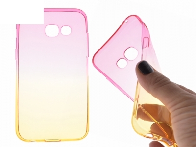 Силиконов гръб OMBRE - Samsung Galaxy A3 (2017) A320 - Rose / Gold
