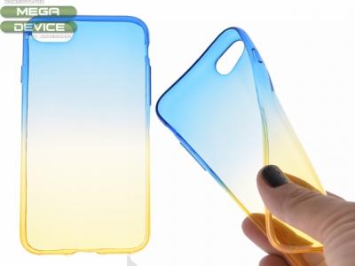 Силиконов гръб OMBRE за Iphone 7 / 8,Син/Жълт