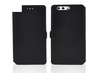 Калъф Тефтер странично отваряне за Huawei P10 Plus Черен